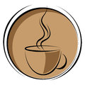 Coffee logo simple illustration of vector illustration Stock Photography