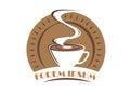 Coffee logo symbol isolated on white background.