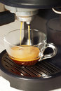 Coffee machine and cup of Stock Photos