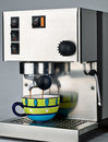 Coffee Machine and Cup Stock Image