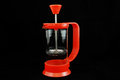 Coffee maker red out of Stock Photography