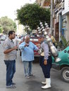 Coffee man in giza city egypt africa Stock Photo