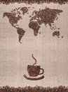 Coffee map Stock Photography