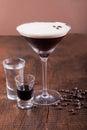 Coffee Martini cocktail Royalty Free Stock Photo