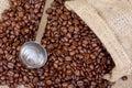 Coffee measuring spoon Stock Photo