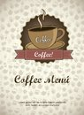 Coffee menu Stock Images
