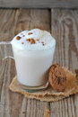 Coffee milk shake with cookies Stock Image