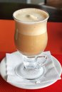 Coffee milkshake nonalcoholic in a glass Royalty Free Stock Photos