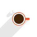Coffee minimal illustration of cup Royalty Free Stock Photo