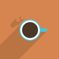 Coffee minimal illustration of cup Stock Image