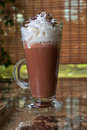 Coffee mocha with whipped cream and chocolate Stock Photo