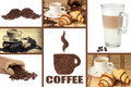 Coffee montage morning beans harmony in one picture Royalty Free Stock Image
