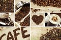 Coffee mosaic decorative theme perfect as print for shops etc photo collection Royalty Free Stock Photography