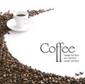 Coffee motive on white background Royalty Free Stock Photography