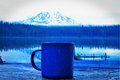 Coffee in the mountains Royalty Free Stock Photo