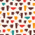 Coffee mug pattern seamless of mugs and teacups Royalty Free Stock Photography