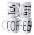 Coffee mugs on white background Stock Photos