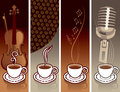 Coffee and music Stock Image