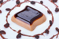 Coffee panna cotta dessert Stock Images