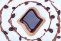 Coffee panna cotta dessert Royalty Free Stock Photo
