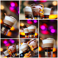 Coffee - party cocktails, Christmas Royalty Free Stock Photography