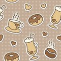 Coffee pattern Stock Photos