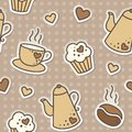Coffee pattern Royalty Free Stock Photos