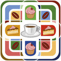 Coffee pattern and cake seamless Royalty Free Stock Images