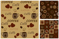 Coffee patterns Royalty Free Stock Photography