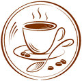 Coffee the pictogram with the image of a cup of vector illustration Royalty Free Stock Photo
