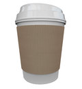 Coffee plastic cup morning java drink caffeine blank copy space a of from a store or restaurant with a holder sleeve to help wake Stock Photos