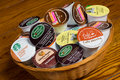 Coffee Pods K-cups Stock Photo