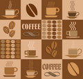Coffee related illustration Royalty Free Stock Photos
