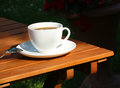 Coffee relax in garden Stock Photo