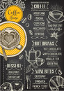 Coffee restaurant cafe menu, template design. Royalty Free Stock Photo