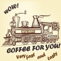 Coffee retro advertising poster
