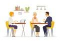 Coffee Room - modern vector cartoon characters illustration Royalty Free Stock Photo
