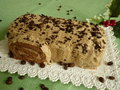 Coffee roulade a pleasure for everybody perfect for christmas Stock Image