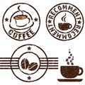 Coffee rubber stamps Royalty Free Stock Image