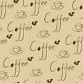 Coffee seamless Royalty Free Stock Image