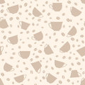Coffee seamless background coffee cups seamless pattern beans Stock Image