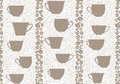 Coffee seamless background coffee cups seamless pattern beans striped Royalty Free Stock Images
