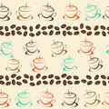 Coffee seamless background for your design
