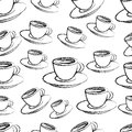 Coffee seamless pattern cup of background vector eps Stock Photo