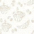 Coffee seamless pattern pastel Stock Photo