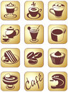 Coffee set icon for break and beverage service Royalty Free Stock Photography