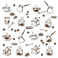Coffee set stylized vector illustration Royalty Free Stock Photo