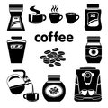 Coffee set white background Stock Images