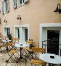 Coffee shop in alexandras avenue corfu greece Stock Image