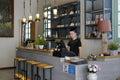 Coffee shop inside Royalty Free Stock Photo